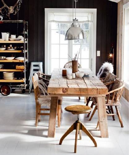 rustic modern, scandinavian design- essential elements in home interior areas