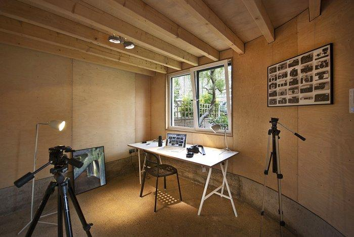 Small home office in the basement - A modern look at an Old Home in London