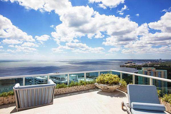 Spectacular view over the ocean - Pharrell Williams' Miami Penthouse Interior at a Glance