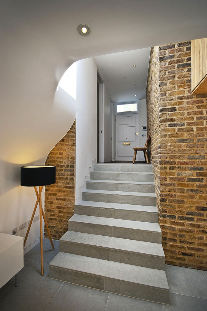 Stairs leading to the ground floor - A modern look at an Old Home in London