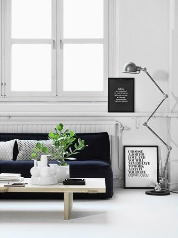 sucker for black & white- essential elements in home interior areas