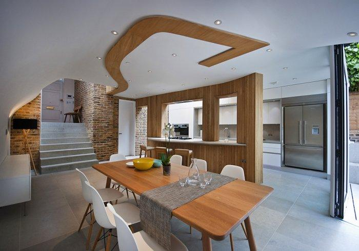 The contemporary dining room in a Victorian house - A modern look at an Old Home in London
