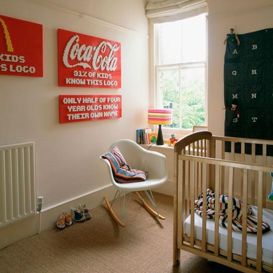 Baby room with Lego decoration-Interior Ideas for Wall Paint, Furniture and Decor