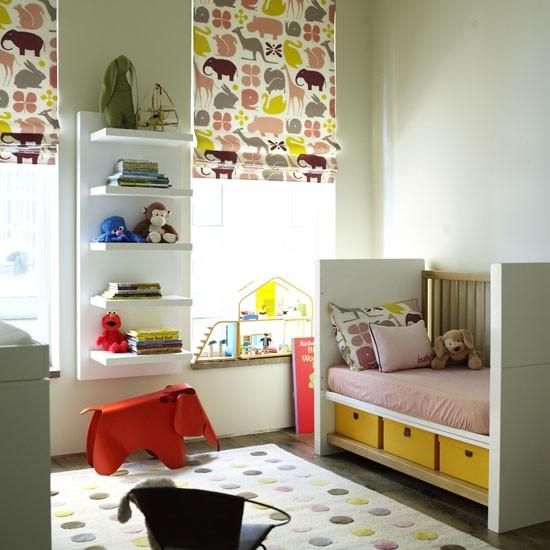 Bright baby room with playful accents-Interior Ideas for Wall Paint, Furniture and Decor