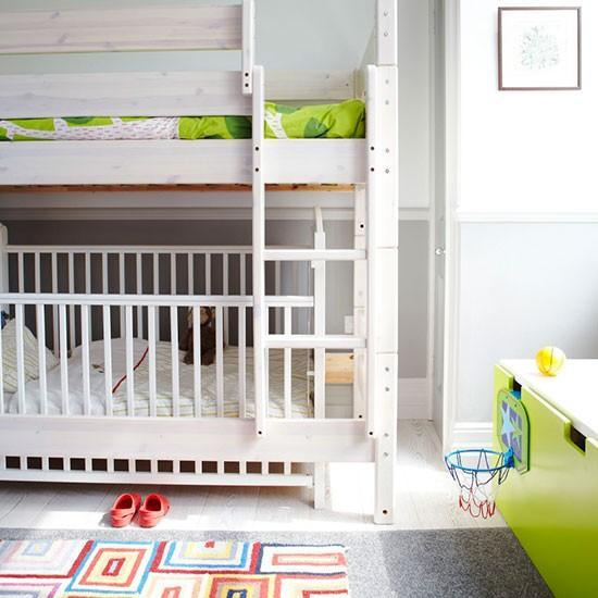 Children room with bunk bed-Interior Ideas for Wall Paint, Furniture and Decor