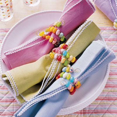 Colorful dinner linen napkins-Unique, Fresh and Exciting Easter Table Decoration Ideas