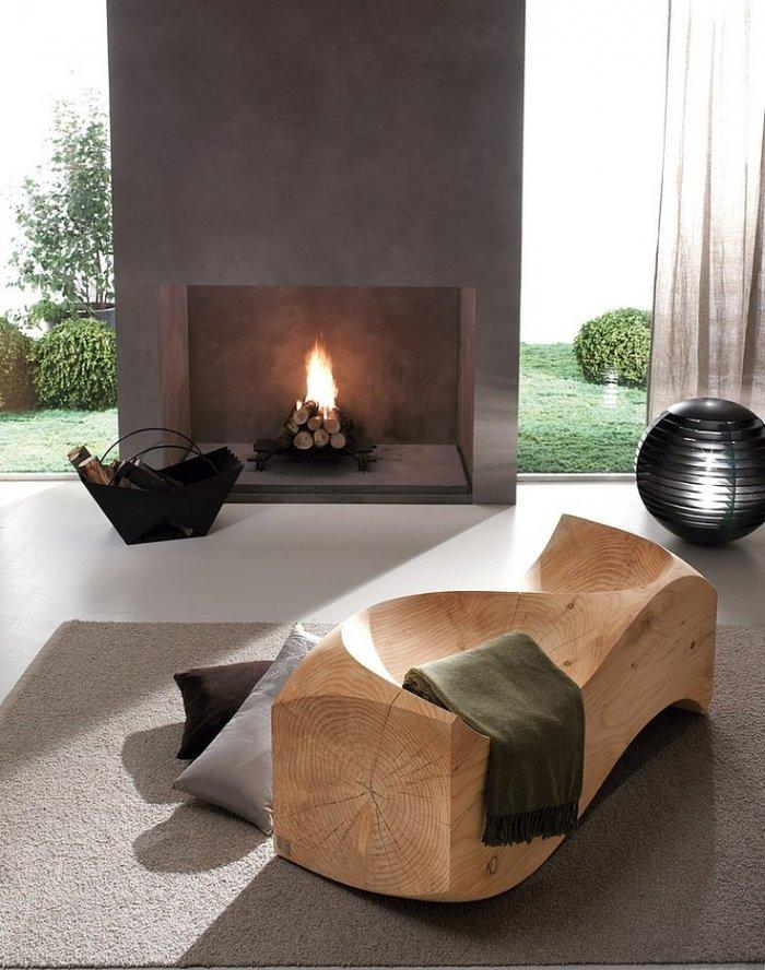 Creative Wooden Sitting furnniture in a Living Room by Usona