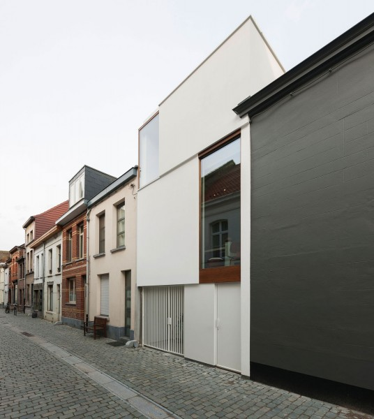 Creative functional small minimalist Belgium house-1