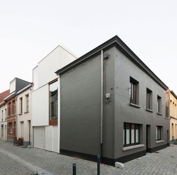 Creative functional small minimalist Belgium house-2