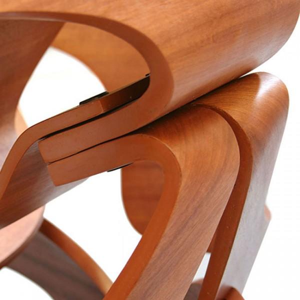 Details of a unique designer wooden chair – Surreal Furniture Product Design