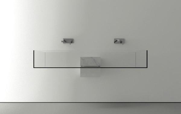 Double minimalist bathroom sink design-Modern bathroom equipment design by Victor Vasilev