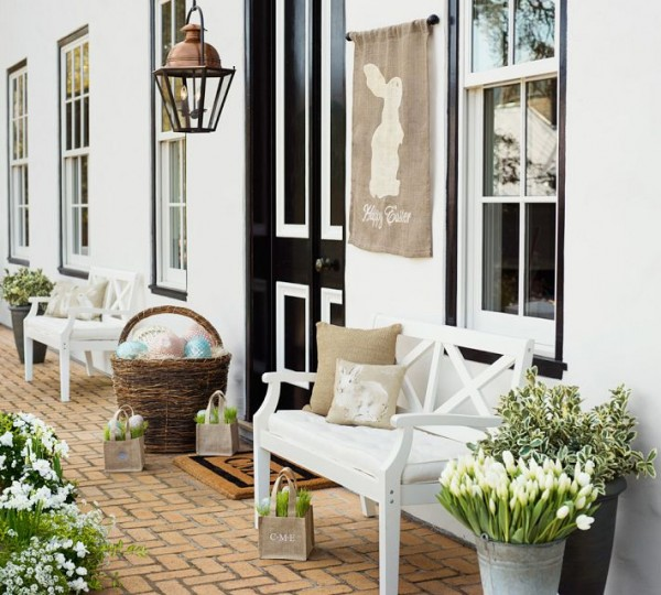 Front door Easter decorations - 44 Home Decoration Ideas for table, living room and door
