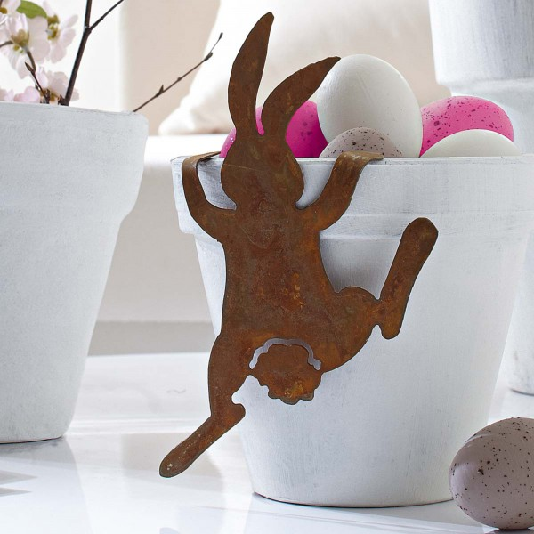 Funny Easter Bunny item - 44 Home Decoration Ideas for table, living room and door