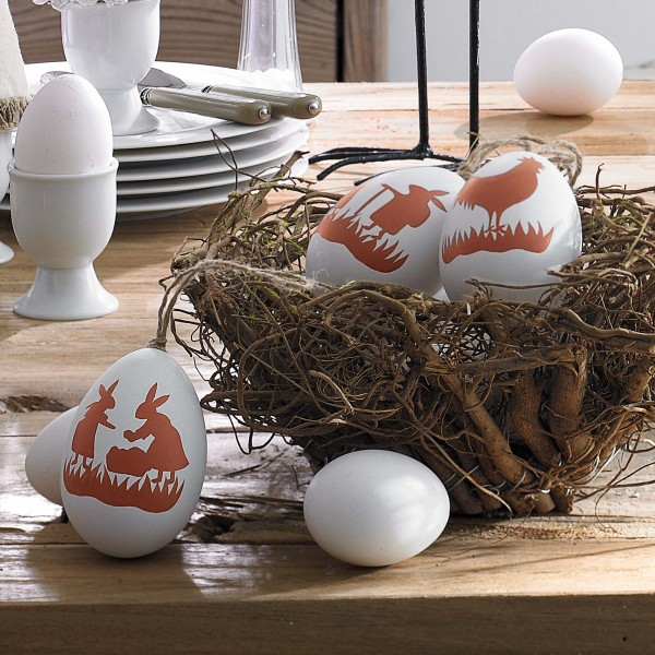 Funny Easter egg applications - 44 Home Decoration Ideas for table, living room and door