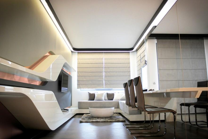 Futuristic Small Apartment Interior Design In Bulgaria Nice Ideas