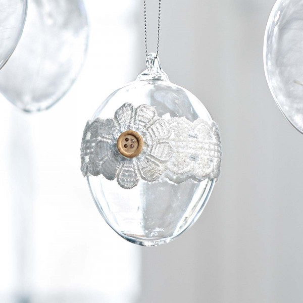 Luxury Easter glass egg - 44 Home Decoration Ideas for table, living room and door