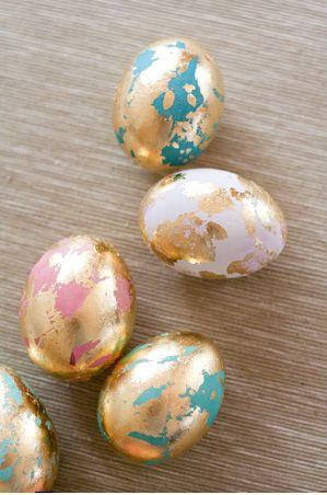 Marble painted eggs with different nuances– Easter Basket and Eggs Ideas for Decorations in Many Colors