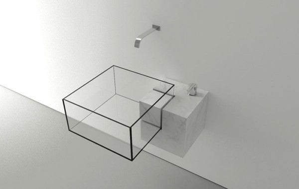 Minimalist Kub Basin design-Modern bathroom equipment design by Victor Vasilev