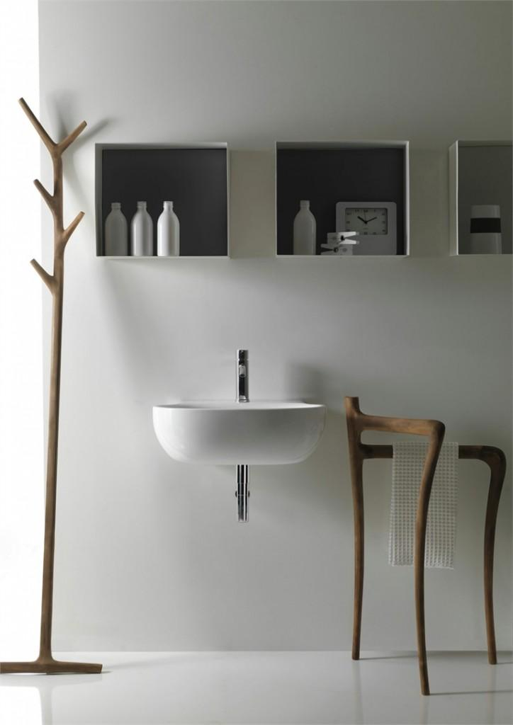 Modern Rustic Bathroom Furniture Collection Ergo by Galassia-Rough, yet elegant and authentic Private Room