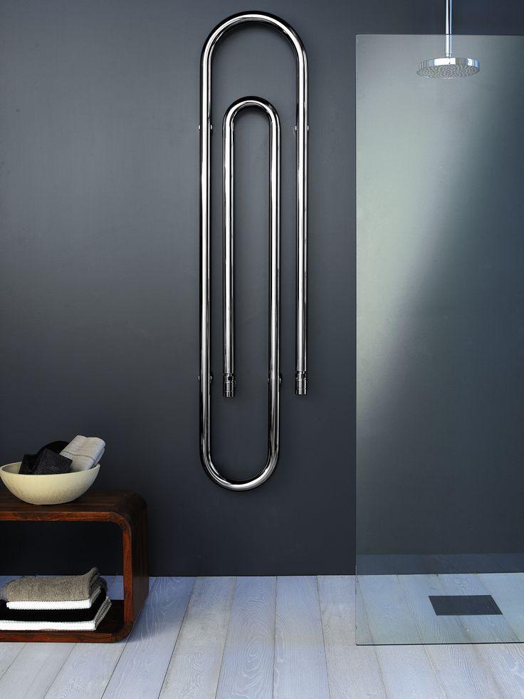 Modern minimalist interior design bathroom - Steel Decorative radiator