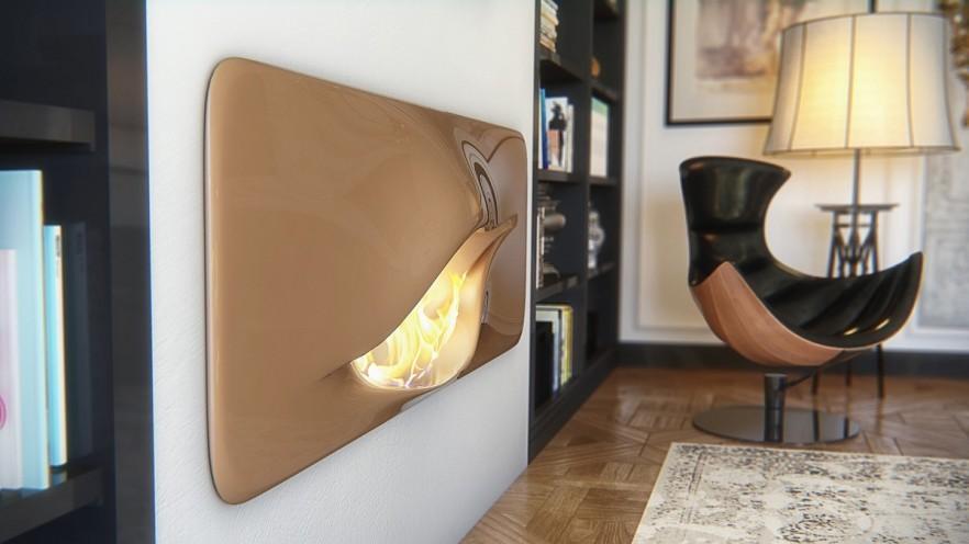 Mvtikka - Contemporary and Futuristic Fireplace by Nuvist