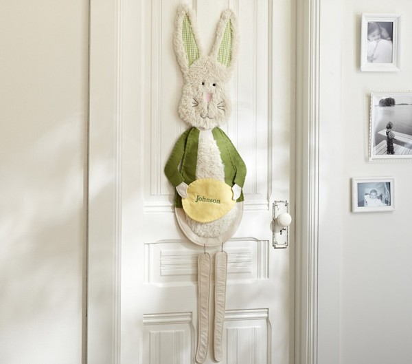 Personalized Bunny Door Sign with name tag