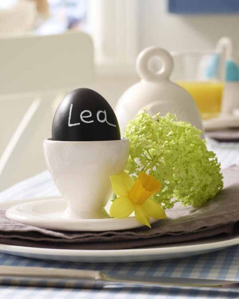 Personalized Easter egg cup - 44 Home Decoration Ideas for table, living room and door