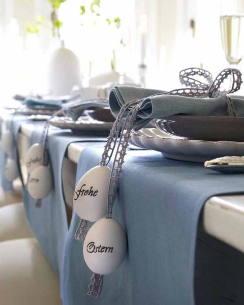 Personalized hollowed eggs - 44 Home Decoration Ideas for table, living room and door