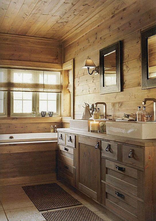 Rustic Bathroom Ideas-Rough, yet elegant and authentic Private Room