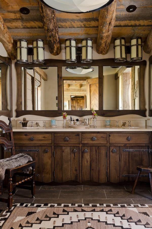 Rustic Bathroom with barn beams-Rough, yet elegant and authentic Private Room