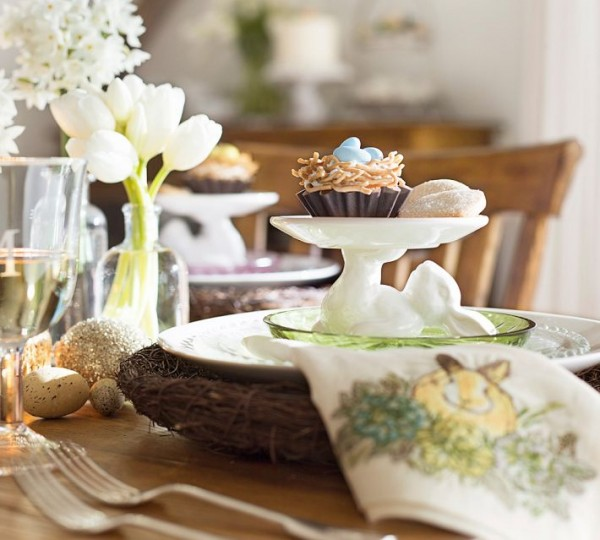 Sweet Easter cupcake - 44 Home Decoration Ideas for table, living room and door