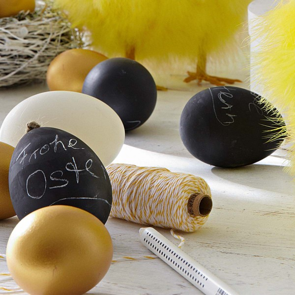 Very stylish modern Easter hand-crafted eggs - 44 Home Decoration Ideas for table, living room and door