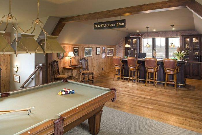 A couple home with bar, pool table and chess playing area - Interior Design Trends - Having a Pub in the house