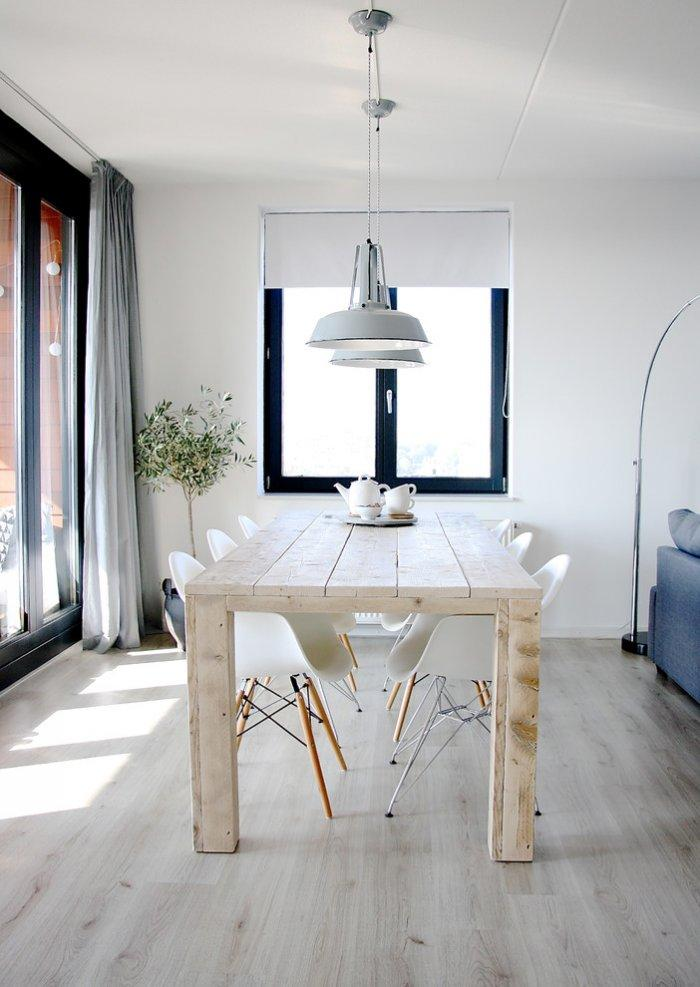 Interior with a serene color palette in white and neutral colors -10 Tips for Creating a Home Paradise in Urban Areas