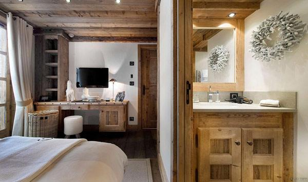a-view-from-one-of-the-bedrooms-in-the-villa- Le Petit Chateau in the French Alps