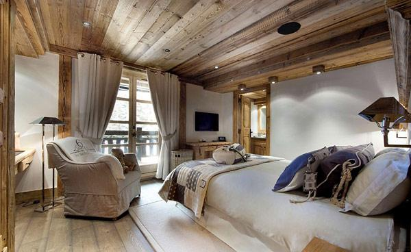 a-view-to-the-small-toilet-on-the-left-and-the-bedroom-on-the-right- Le Petit Chateau in the French Alps