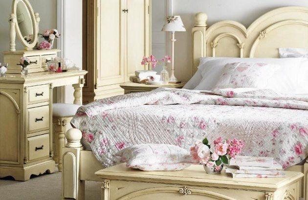 Feminine shabby chic bedroom interior ideas and examples - Habitaciones shabby chic ...