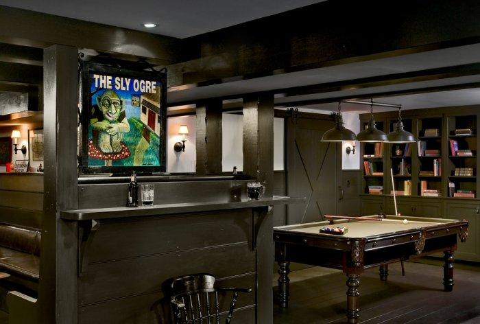 All pine home pub with custom-made bar top - Interior Design Trends - Having a Pub in the house