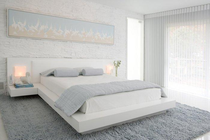 Bedroom interior design with white shutters - 10 Tips for Creating a Home Paradise in Urban Areas
