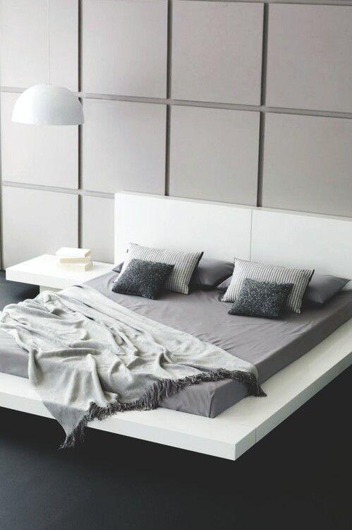 black, grey and white minimalist bedroom-17 Stirring Minimalist Bedroom Interior Design Images