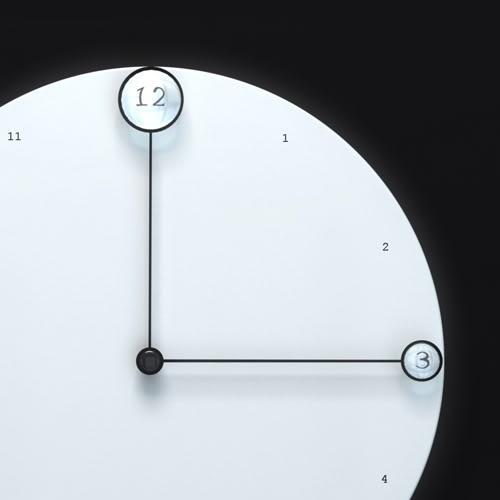 contemporary clock - design traveller minimalism