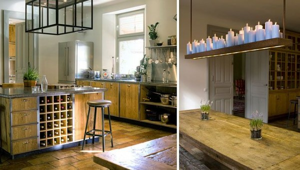 contemporary-cozy-kitchen-with-wooden-countertops- Interior Design and Furniture trends for cooking areas