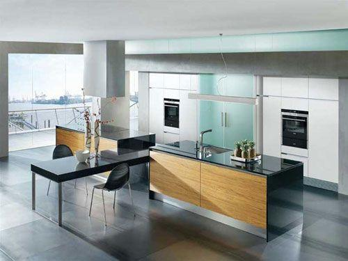 contemporary-kitchen-with-open-plan-architecture- Interior Design and Furniture trends for cooking areas