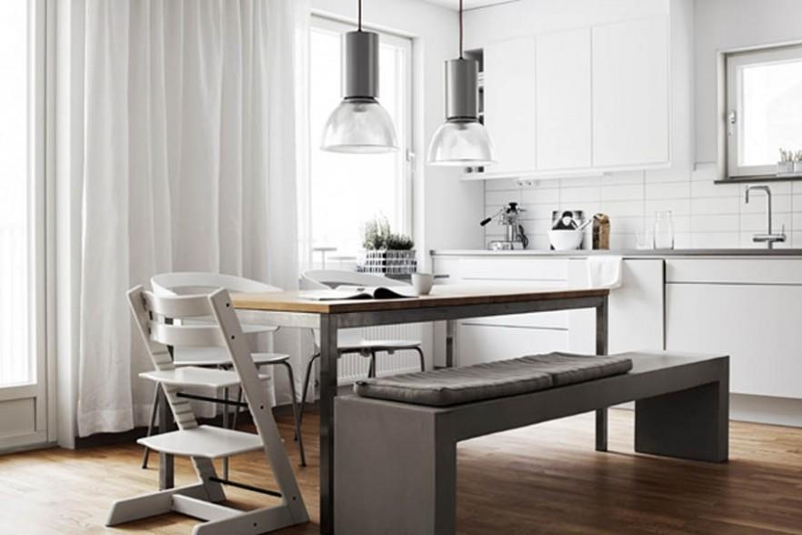 Cozy Minimalist Small Apartment Interior In Stockholm