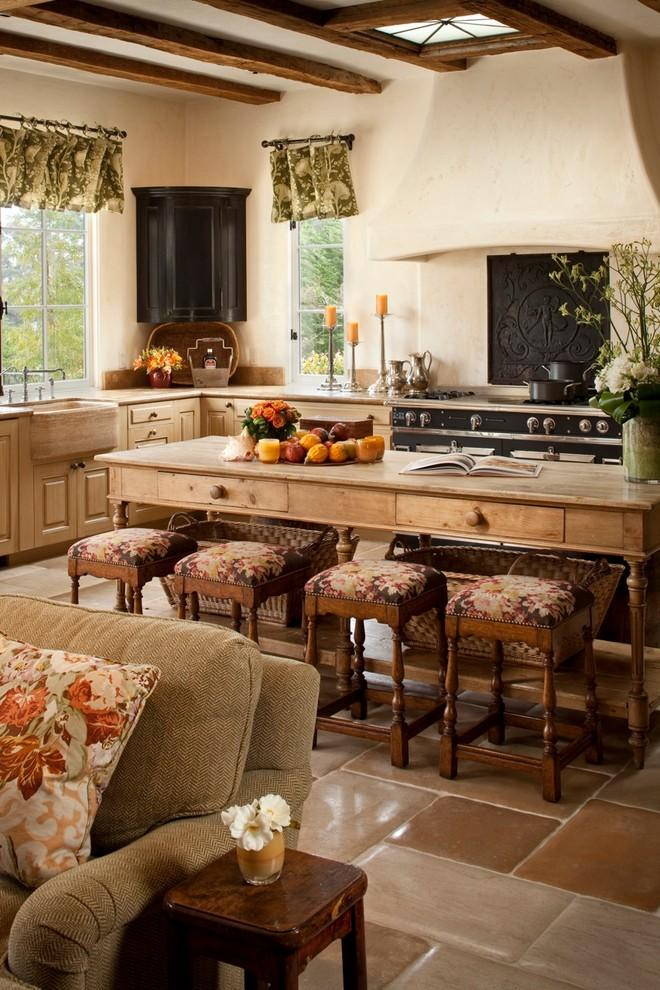 16 ways to create a cozy rustic kitchen interior design for Country living light mahogany kitchen island