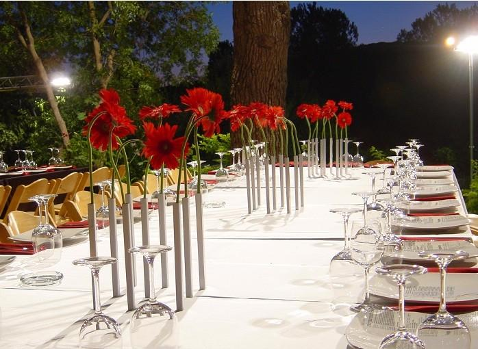 daisy-flower-vases-decorating-an-outdoor-dinning-table- 15 Creative, Amazing and Functional Home Decorative Items