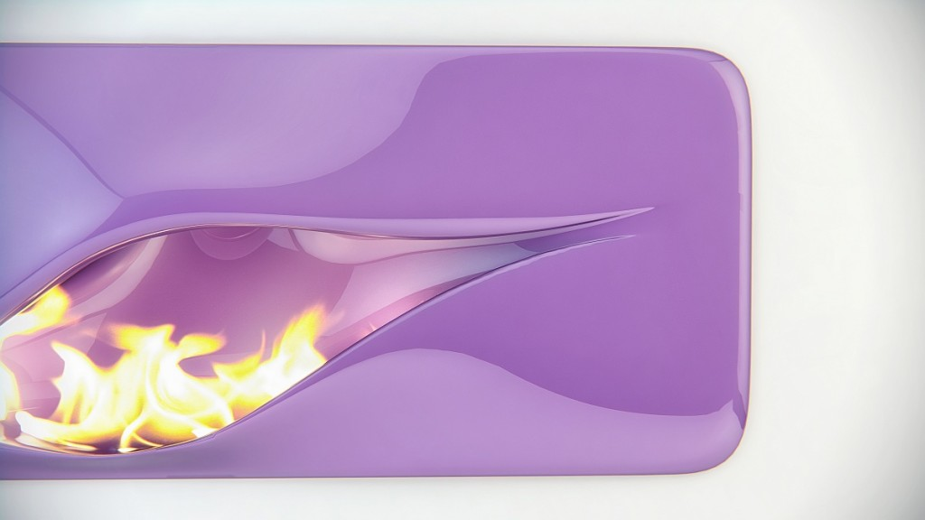 futuristic fireplace in purple color-Contemporary installations for warmth in home