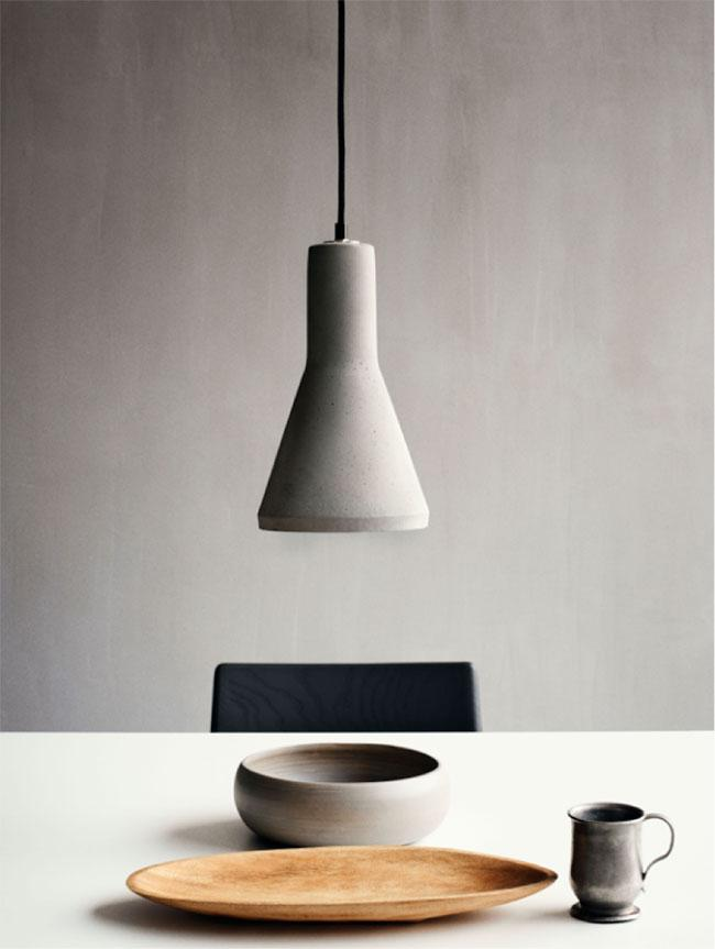 gray fixture - minimalist dining-table