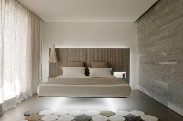 led illuminated minimalist bedroom-17 Stirring Minimalist Bedroom Interior Design Images