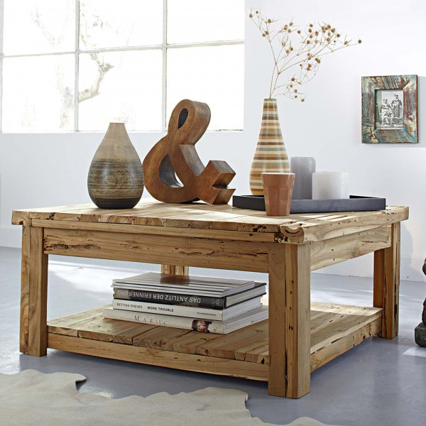 low-in-height-wooden-coffee-table-with-rustic-touch- 21 Creative and Functional Home Furniture Examples